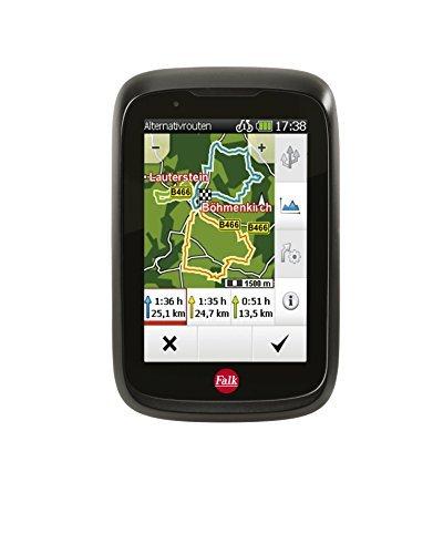 falk fahrrad gps navigationsgeraet tiger geo kapazitiver touchscreen 25 laender integrierte fahrradhalterung schwarzrot 240035 - Routenplaner für das Fahrrad