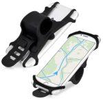 kwmobile Handy Fahrrad Halterung Universal Halter - Fahrradhalterung Handyhalterung aus Silikon für alle Fahrradlenker - Schwarz