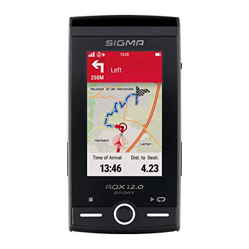 SIGMA SPORT ROX 12.0, GPS Fahrradcomputer mit Kartennavigation und Farbdisplay, grau