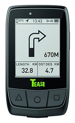TEASI Core - Fahrradcomputer Inklusiv Tahuna App, Geschwindigkeits- und Trittfrequenzsensor, Schwarz